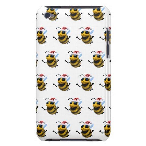 3d abeja Santa (BG Editable colorea!) iPod Touch Carcasa