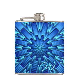 3D Abstract Art 1-8 Image Options Wrapped Flask