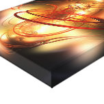 3D Abstract background Canvas Print
