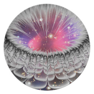 3D Abstract Design Melamine Plates