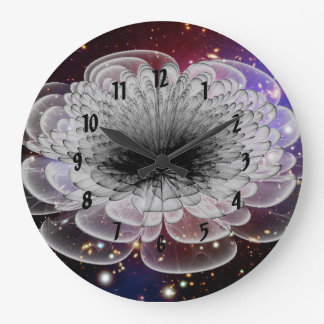3D Abstract Floral Round (Large) Wall Clock