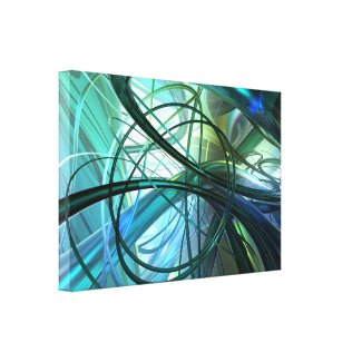 3D Abstract green