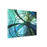 3D Abstract green Canvas Print
