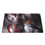 3D Abstract red Canvas Print