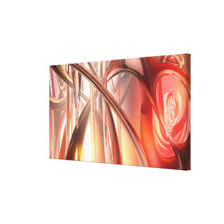 3D abstract red fantasy Canvas Print