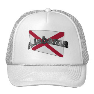 3D Alabama State Flag Trucker Hat