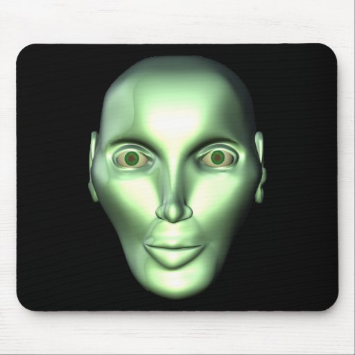 3D Alien Head Extraterrestrial Being Mousepad