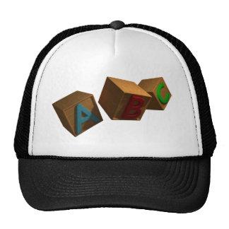 3D Alphabet Blocks Trucker Hat