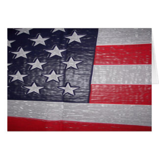 3D American Flag Card