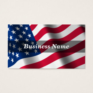 3D American Flag (True Colors) Business Card