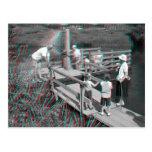 3D anáglifo - transbordador de la veta de Hampton, Tarjetas Postales