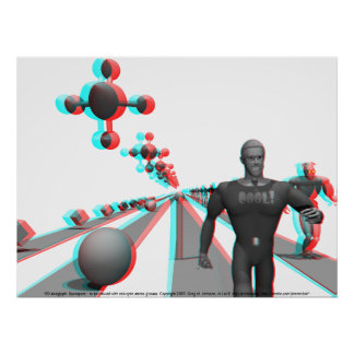 3D Anaglyph: Spaceport Print