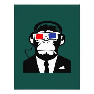 3D Ape Monkey Club Electro Motive Headphones Personalized Flyer