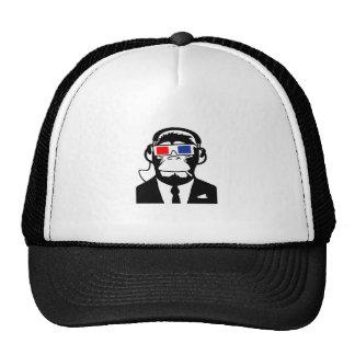 3D Ape Monkey Club Electro Motive Headphones Trucker Hat
