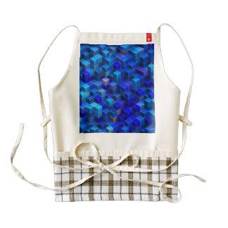 3D apilado azul cubica el modelo geométrico