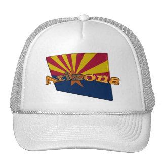 3D Arizona State Flag Trucker Hats