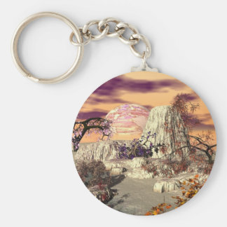 3d art basking beauties basic round button keychain