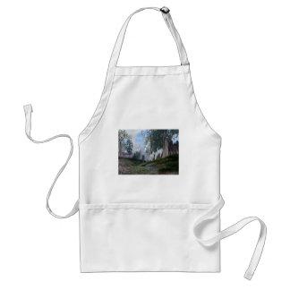 3d art glory on high adult apron