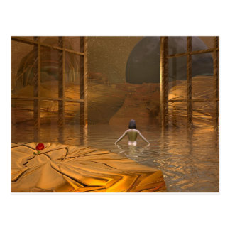 3d art golden dream postcard