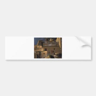 3d art indian village bumper sticker