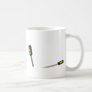3d Art Traffic Light  Model Coffee Mug