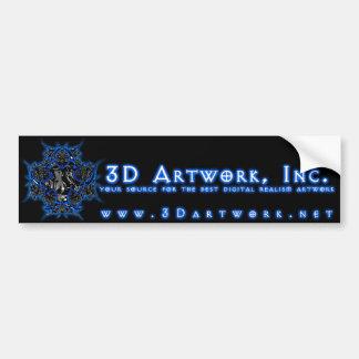 3D Artwork, Inc. Pegatina Para Auto