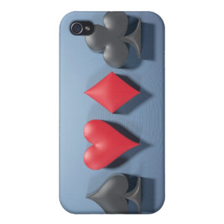 "3D Artwork ""Poker Suits"" iPhone 4 Cases"