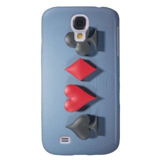 """3D Artwork """"Poker Suits"""" Samsung Galaxy S4 Cover"""