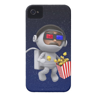 3d Astronaut popcorn floats in space Case-Mate iPhone 4 Case