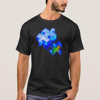 3d Autism Puzzle Piece T-Shirt