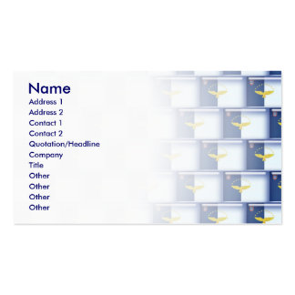 3D Azores flag pattern Business Card