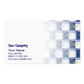 3D Azores flag pattern Business Card Templates