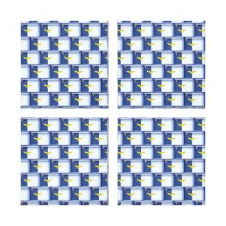 3D Azores flag pattern Canvas Print