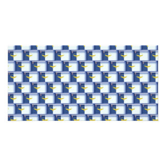 3D Azores flag pattern Card