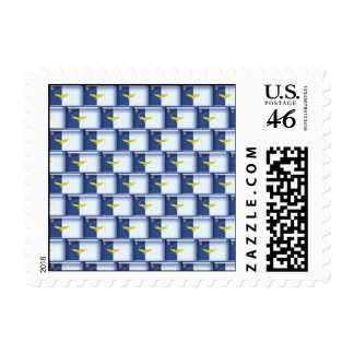 3D Azores flag pattern Postage Stamp