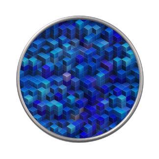 3D azul cubica el modelo geométrico abstracto Latas De Caramelos