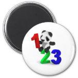 3d Baby Panda 123 2 Inch Round Magnet
