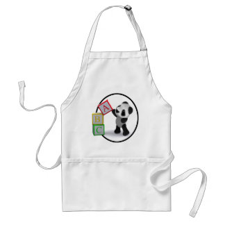 3d Baby Panda Alphabet Blocks Aprons