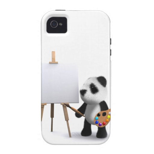3d Baby Panda Artist Case-Mate iPhone 4 Cases