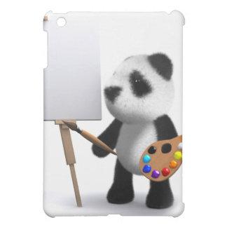 3d Baby Panda Artist iPad Mini Cases
