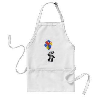3d Baby Panda Balloons Adult Apron