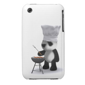 3d Baby Panda Barbecue iPhone 3 Case