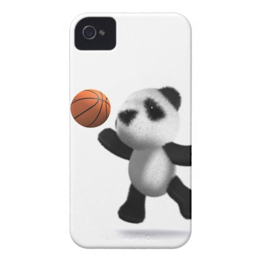 3d Baby Panda Basketball Case-Mate iPhone 4 Cases