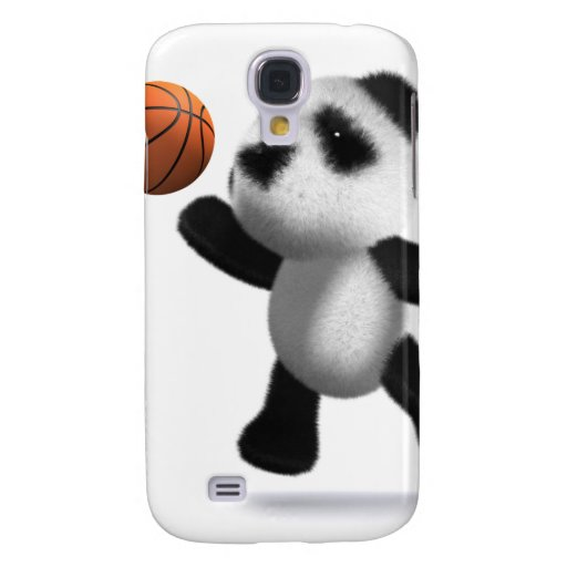 3d Baby Panda Basketball Galaxy S4 Cover