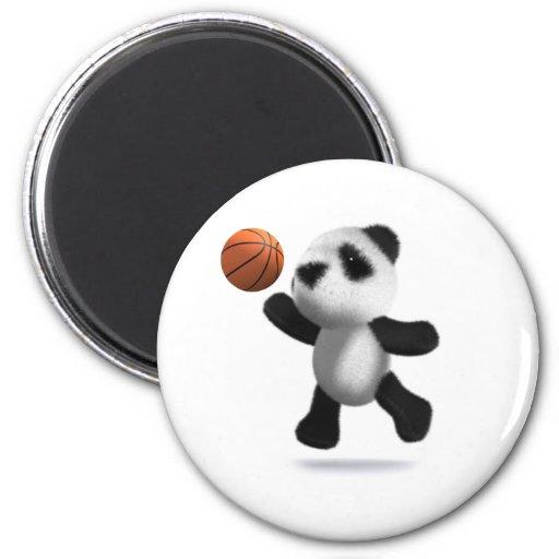 3d Baby Panda Basketball Magnet