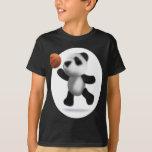 3d Baby Panda Basketball T-Shirt