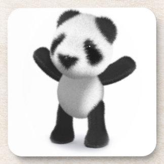 3d Baby Panda Cheers Hooray! Beverage Coaster