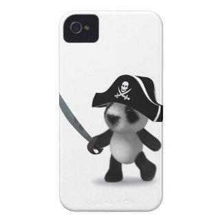 3d Baby Panda Cute Pirate Case-Mate iPhone 4 Case