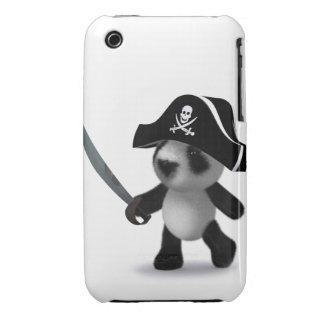 3d Baby Panda Cute Pirate iPhone 3 Covers