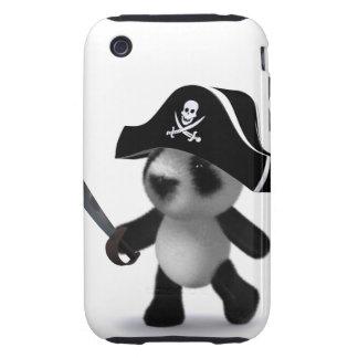 3d Baby Panda Cute Pirate Tough iPhone 3 Cases